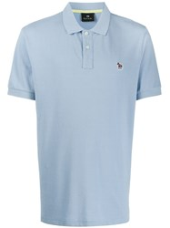 Paul Smith Ps Embroidered Logo Polo Shirt Blue