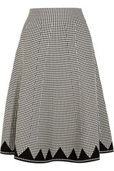 Alexander Wang Gingham Stretch Knit Midi Skirt Black