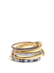 Spinelli Kilcollin Atlas Sapphire Tanzanite Silver And Gold Ring Yellow Gold