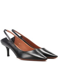 Vetements Leather Slingback Pumps Black