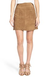 Women's Pam And Gela Suede High Waist Skirt