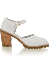 F Troupe Leather Sandals White