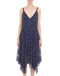 Romeo And Juliet Couture Two Tone Lace Midi Dress Blue Black