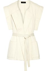Isabel Marant Beatsy Cotton Matelasse Vest White
