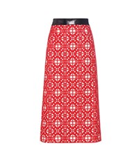 Teatum Jones Florence Embroidered Merino Wool Skirt