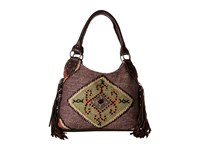 Scully Serena Fringe Tote Bag Brown Tote Handbags