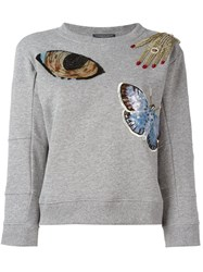 Alexander Mcqueen 'Big Obsession' Sweatshirt Grey