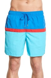 Men's Southern Tide Colorblock Swim Trunks Royal Blue