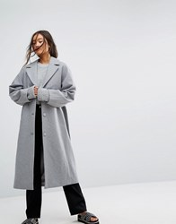 Weekday Wool Coat In Grey