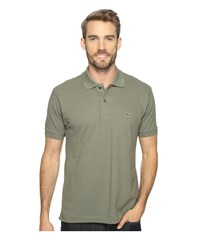 Lacoste L1212 Classic Pique Polo Shirt Army Men's Short Sleeve Knit Green