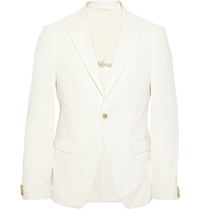 Jil Sander Linen And Cotton Blend Blazer White