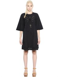 Etoile Isabel Marant Embroidered Cotton Poplin Dress