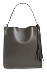 Sole Society Karlie Faux Leather Bucket Bag Grey