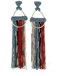 Missoni Tassel Earrings Beige