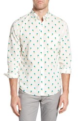 Bonobos Men's Slim Fit Print Sport Shirt Pineapple Print