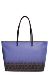 Fendi 'Medium Roll' Ombre Tote Brown Tobacco Cassis