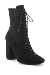 Cape Robbin Betisa Lace Up Boot Black