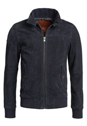 Superdry Premium Suede Harrington Jacket Navy