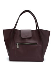 Mara Mac Leather Tote Pink And Purple