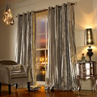 Kylie Minogue At Home Iliana Lined Eyelet Curtains Praline Bronze