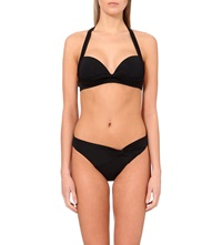 Jets By Jessika Allen Intuition 50S Halter Neck Twist Front Bikini Top Black