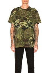 Givenchy Money Print Tee In Abstract Green Abstract Green