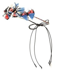 Valentino Feather Embellished Headband Multicoloured