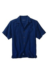 Men's Big And Tall Tommy Bahama 'Rio Fronds' Short Sleeve Silk Sport Shirt