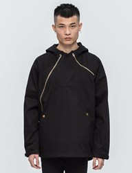 Black Scale Asymmetrical Technical Jacket