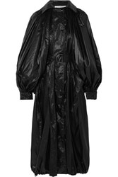 Givenchy Hooded Glossed Shell Coat Black