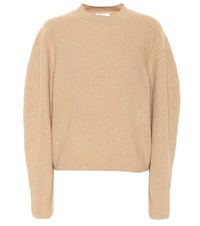 Chloe Ribbed Wool And Cashmere Sweater Brown
