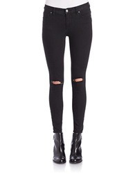 Free People Destroyed Skinny Jeans Black