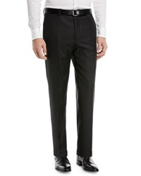 Santorelli Super 130S Wool Twill Dress Pants Black
