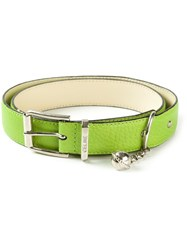 Ca Line Vintage Classic Leather Belt Green