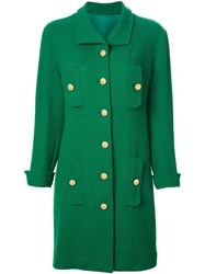 Chanel Vintage Single Breasted Coat Green