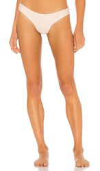Pilyq Basic Ruched Teeny Bikini Bottom In Taupe. Seashell