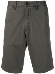 Emporio Armani Mid Rise Knee Length Shorts Grey