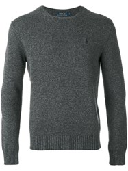 Polo Ralph Lauren Embroidered Sweater Men Cotton L Grey