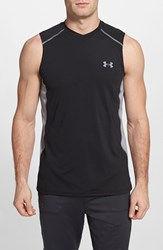 Men's Under Armour 'Raid' Heatgear Fitted Tank Top Black Steel