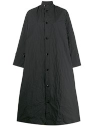 Toogood A Line Trench Coat Black