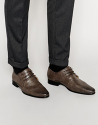 New Look Textured Lace Up Shoes Mocha