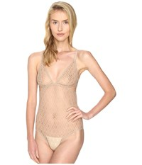 Else Baklava Triangle Cup Cut Out Bodysuit Nude Women's Jumpsuit And Rompers One Piece Beige