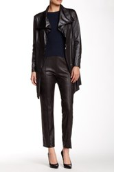 Insight Cracked Faux Leather Straight Leg Pant Black