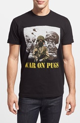 Kid Dangerous 'War On Pugs' Graphic T Shirt Black