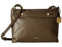 Skagen Mini Mikkeline Satchel Dark Green Satchel Handbags
