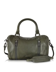 Zadig And Voltaire Xs Sunny Leather Satchel W Shoulder Strap Khaki