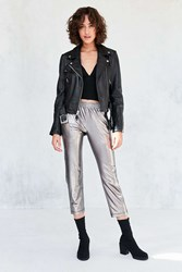 Silence And Noise Sedona Metallic Pull On Pant Grey