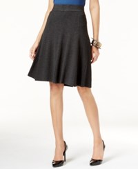Alfani Fit And Flare Sweater Skirt Only At Macy's Coal Melange