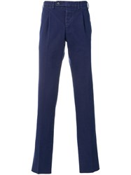 Gabriele Pasini Creased Straight Leg Trousers Blue