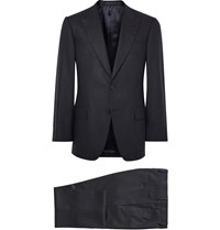 Gieves And Hawkes Midnight Blue Slim Fit Wool Hopsack Suit